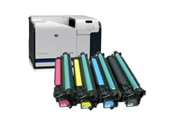 Color LaserJet CP3525N Color Laser Printer Bundle