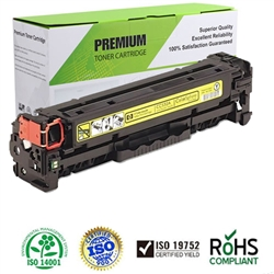 Compatible LaserJet CP2025 Series Yellow Toner